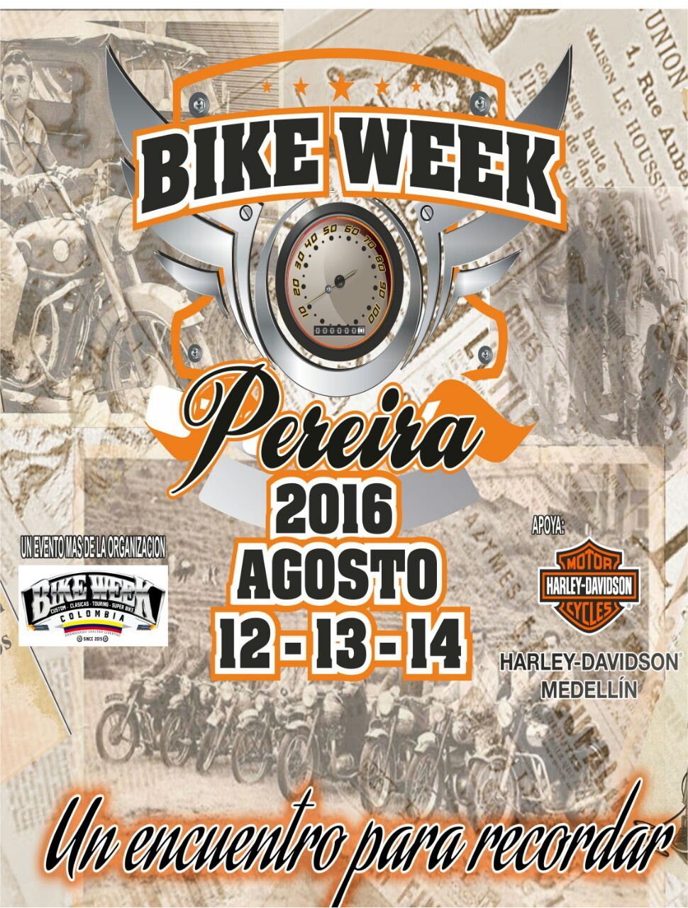 Afiche Bike Week Pereira 2016