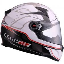 Casco Integral LS2 Lucky blanco rojo 1