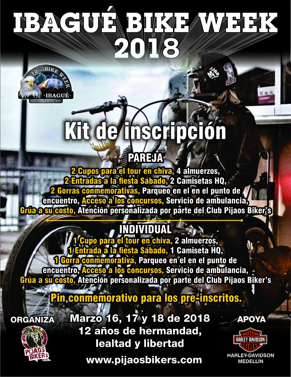 Kit de Inscripción 12th Ibagué Bike Week 2018