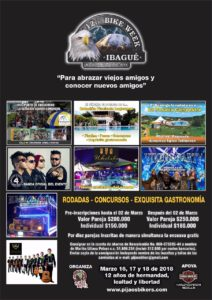 Programación 12th Bike Week Ibagué 2018