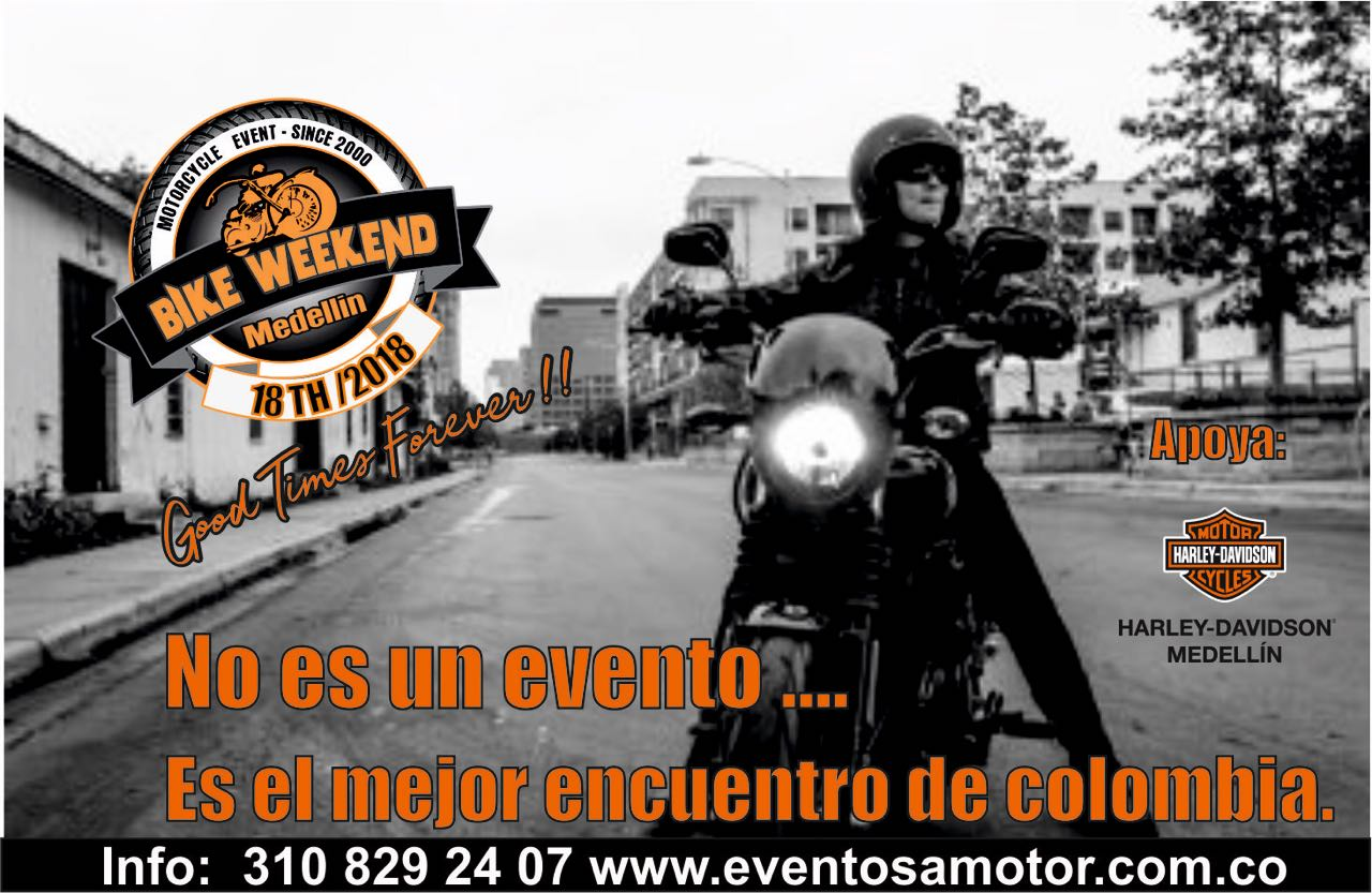 18th Bike Weekend Medellín 2018 - Un evento para todos.