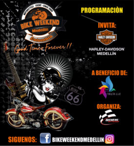 Programación del 18th Bike Weekend Medellín 2018