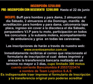 Inscripciones al 18th Bike Weekend Medellín 2018